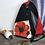 Thumbnail: #810 Sac à dos bandoulière fleur rouge