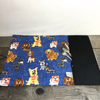 Napperon et sac collation chien