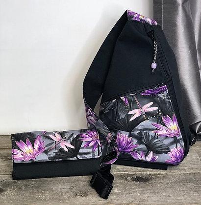 #500 Sac à dos bandoulière lotus mauves