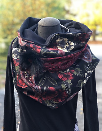 Foulard écharpe rouge