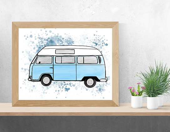 Illustration de Westfalia style watercolor