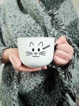Décalque de vinyle pour tasse de café avec petit chat