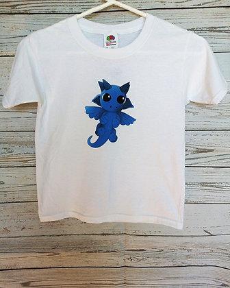 Chandail enfant x-Small dragon bleu
