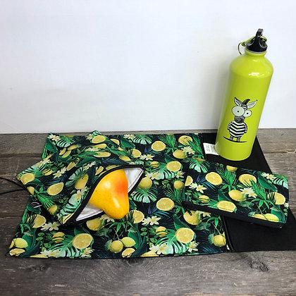 #16 Napperon et  sac collation citron