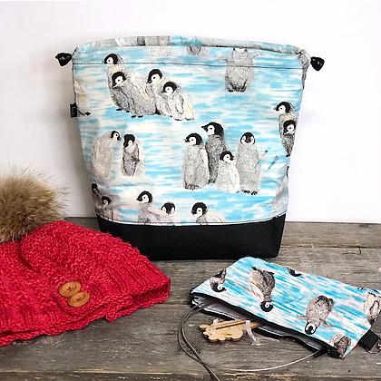 Sac à tricot moyen pingouin