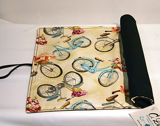 Napperon porte-ustensiles motifs vélos