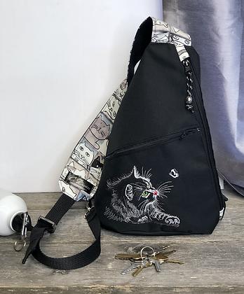 #501 Sac à dos bandoulière chat