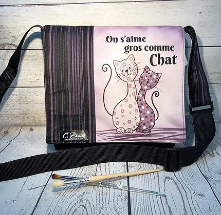 Sac Québec chat sublimé