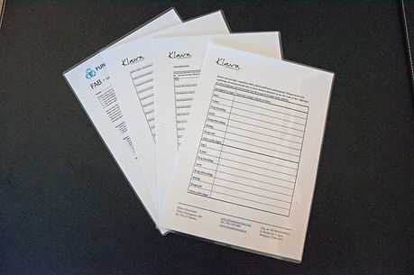 Forms for clients to fill in