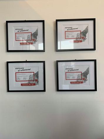 Certificates-Matrix