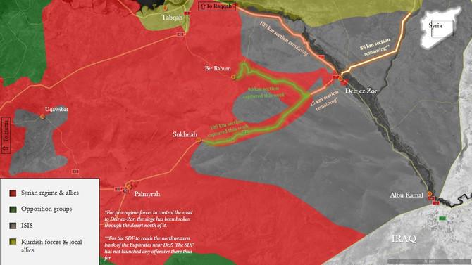 As pro-regime forces break years-long ISIS siege of Deir ez-Zor, final showdown between US and Iran