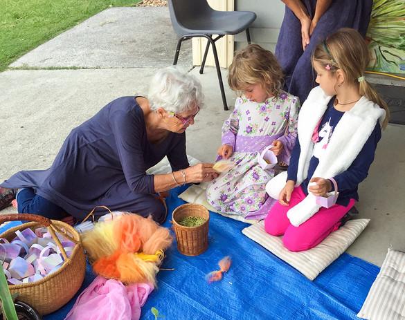 Easter Festival butterfly making