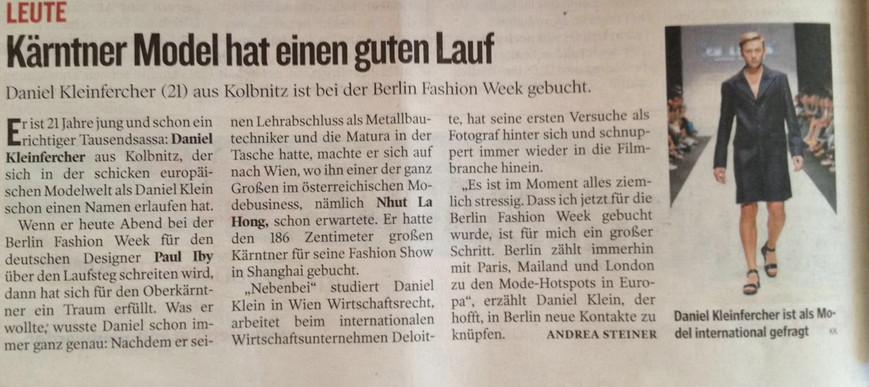 Kleine Zeitung - Januar 2016