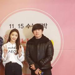 수능대박 프로젝트 가수 '청하'와 유성욱 대표이사