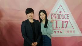 수능대박 프로젝트 가수 '정채연'과 유성욱 대표이사