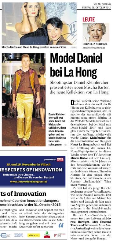 Kleine Zeitung 26.10.2012