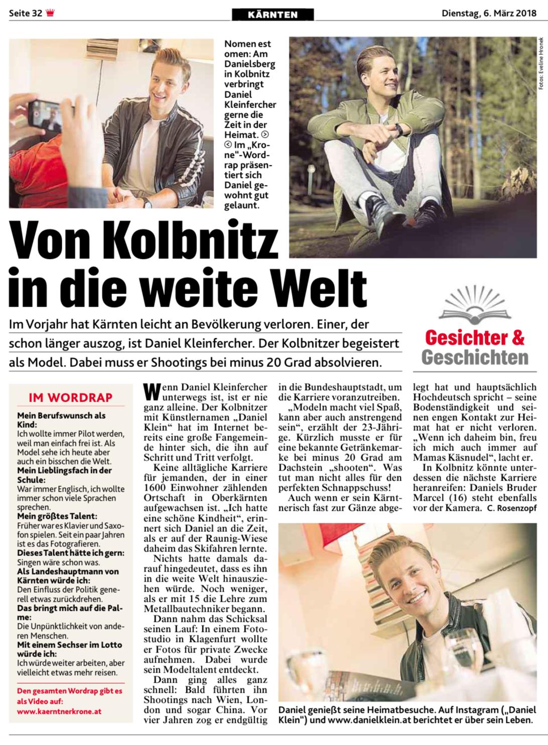 Kronen Zeitung - 06.03.2018