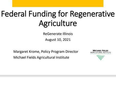 Federal Funding for Regenerative Agriculture