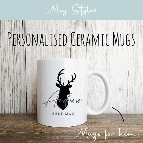 Personalised Mugs - Stag