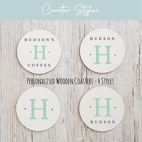 Personalised Wooden Coasters - Initials