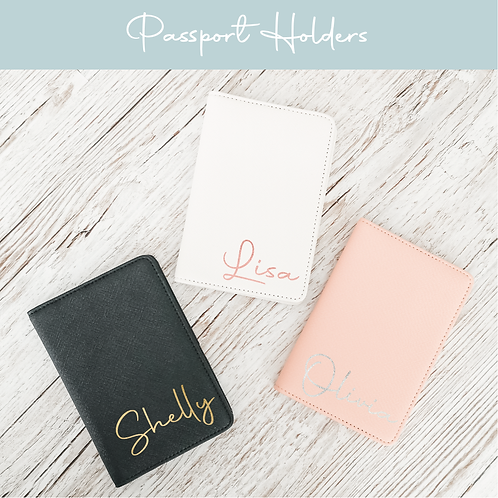 Personalised Passport Holders and Luggage Tags