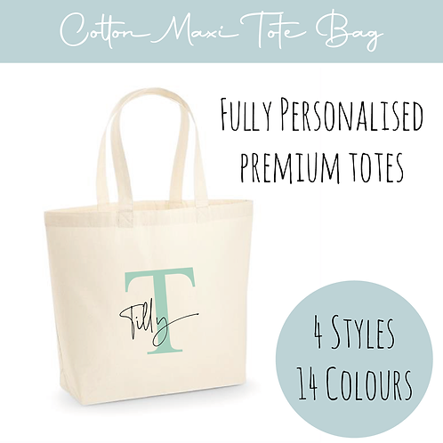Cotton Tote - Personalised Initial+ Name
