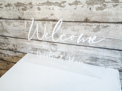 Acrylic Welcome Signs (A2)