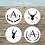 Thumbnail: Personalised Wooden Coasters - Stag