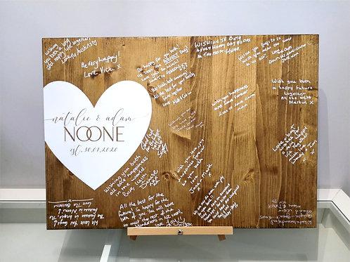 Wedding Wooden GuestBook Board