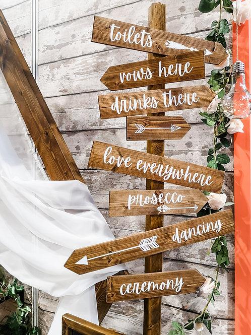 Wedding Sign Post - Large (2m)