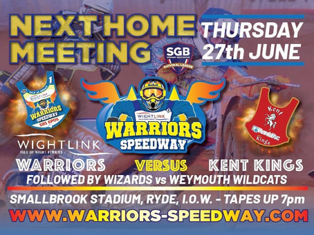 Meeting Previews - Warriors v Kent (NL) & Wizards v Weymouth (MSDL)