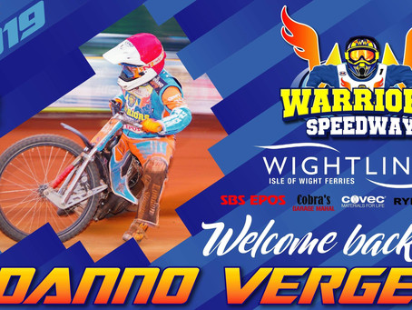 Warriors Confirm The Return Of Danno Verge For 2019