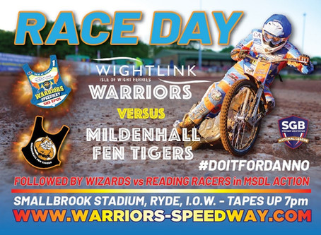 Warriors v Mildenhall - Race Day Update - Injured Wood Misses Meeting