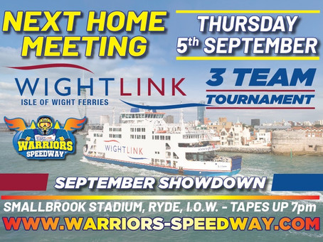 Meeting Preview - Wightlink September Showdown