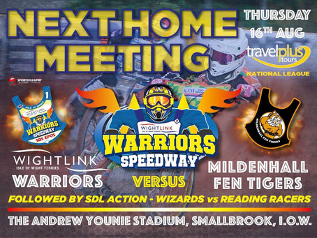 Meeting Previews - Warriors v Fen Tigers (NL) + Wizards v Racers (SDL)