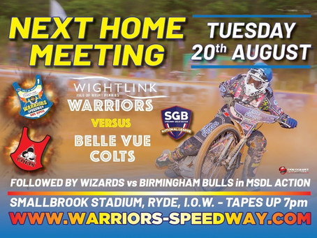 Meeting Preview - Warriors v Belle Vue Colts (NL) & Wizards v  Birmingham (MSDL)
