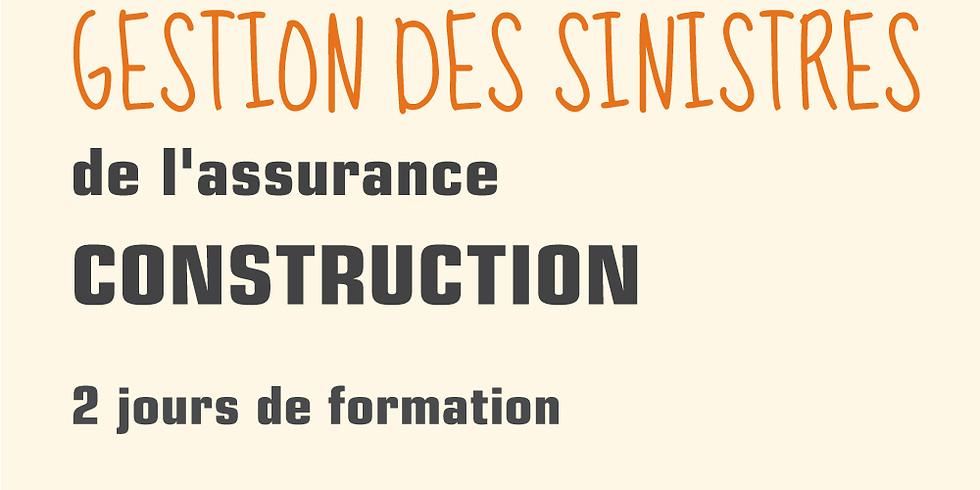 Gestion des sinistres de l'assurance construction