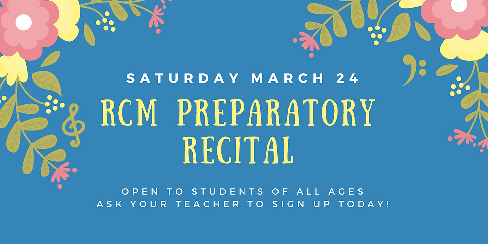 RCM Preparatory Recital