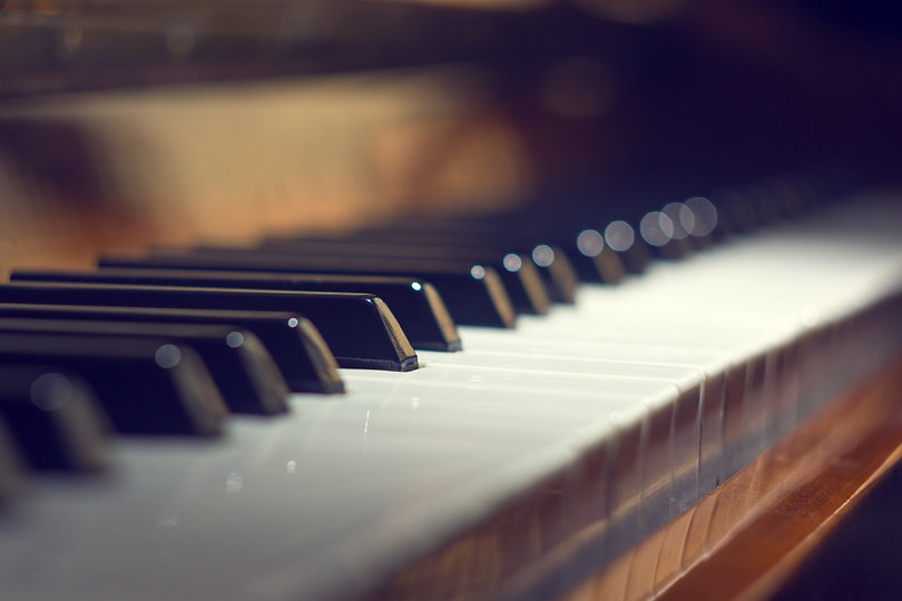 Piano keyboard background with selective