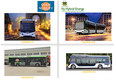 GOLDI Mobility Launches Four Models of Its Zero Emission Buses Under the GOLDiON Brand