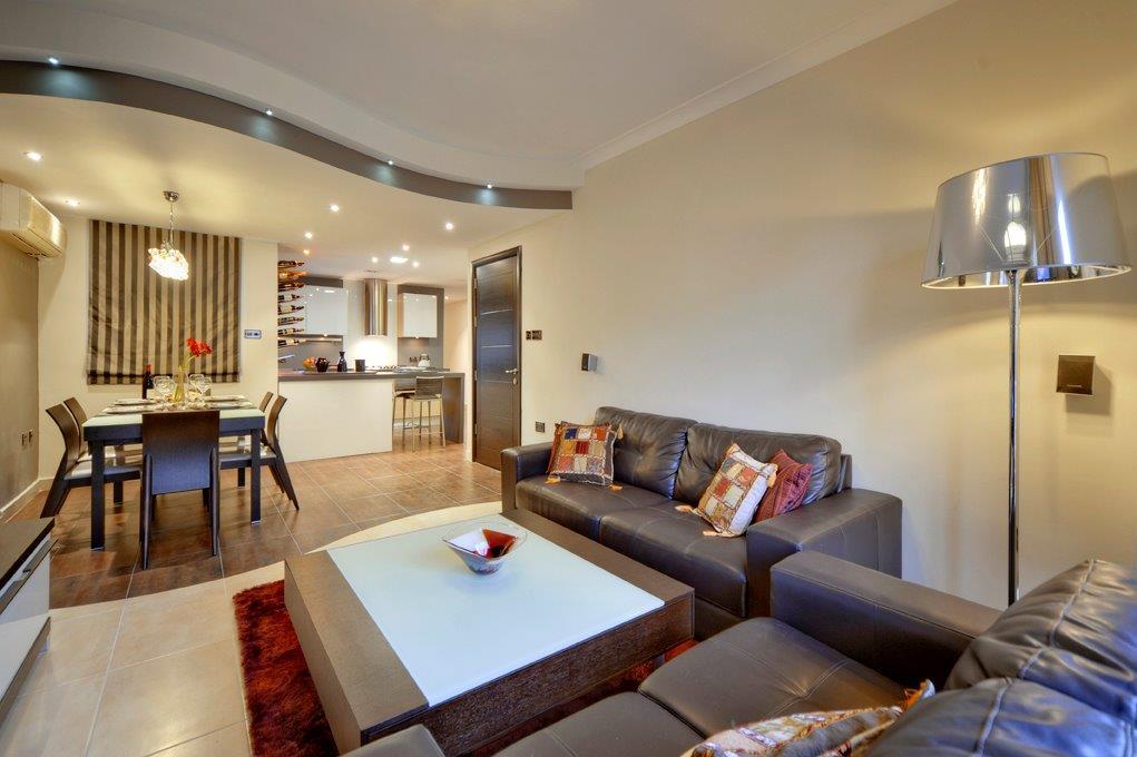 modern classic living area design
