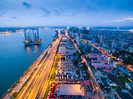 Dusk view of the Lagos Island Central Bu