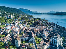 Aerial photograph of Zug, Switzerland