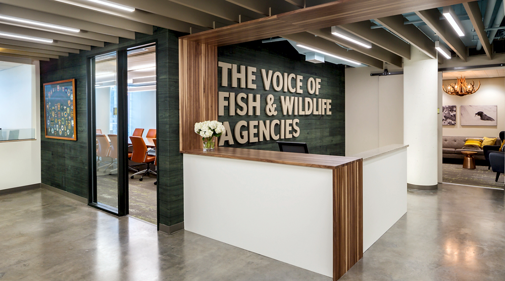 The Association for Fish and Wildlife Agencies office lobby.