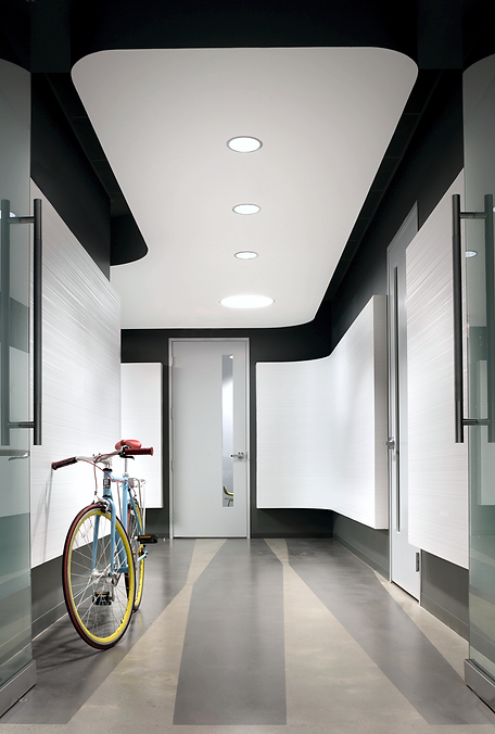 notable solutions entryway, lobby, bicycle, gray, black
