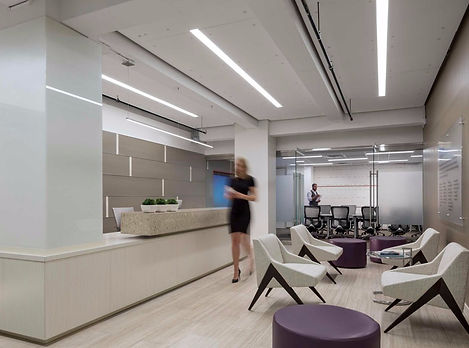 This New York Advisory firm's office, located on Broadway street, was designed by Bill London Design Group.