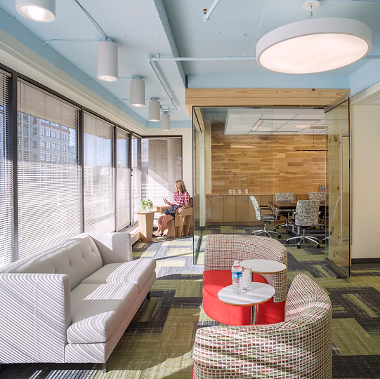 Arcadia chairs, cb2 couch, masland carpet, SFI meeting space, bldg, washington dc