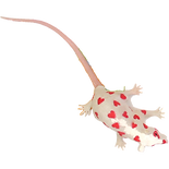 """A toy rat covered in hearts called the """"Love Rat"""""""