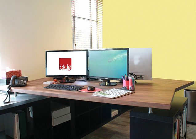 Ikea furniture desks Double Sided We Spend Our Days Designing And Specifying Beautiful Office Spaces For Our Clients So That When It Came To Our Own Space We Wanted To Take It Back To The Bldg Ltd Office Desks Ikea Hack Bldg Commercial Interior Architecture