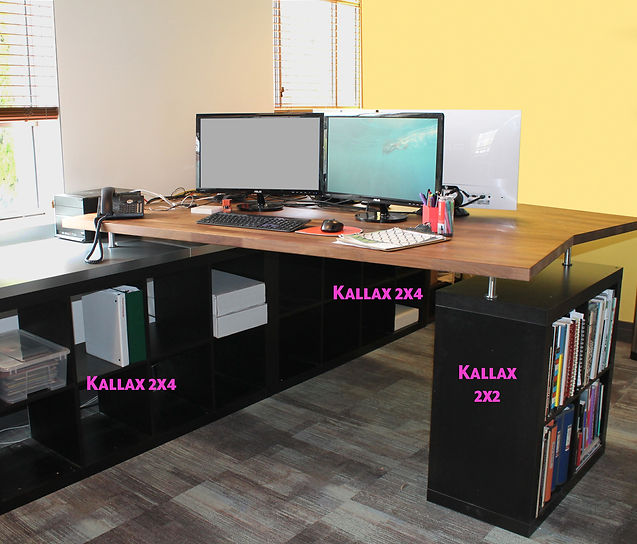 Office Desks: Ikea Hack